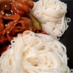 Golbaengi Muchim 골뱅이 무침 (Spicy Sea Snail Mix w Noodles)