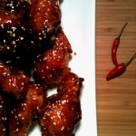 Korean Extra Crispy Fried Chicken w Sweet Spicy Glaze 매운 양념 치킨