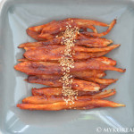 Duduk Gui 더덕구이 (Pan Fried Bellflower Root)