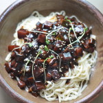 Jajangmyeon 짜장면 (Noodles in Sweet Black Bean Sauce)